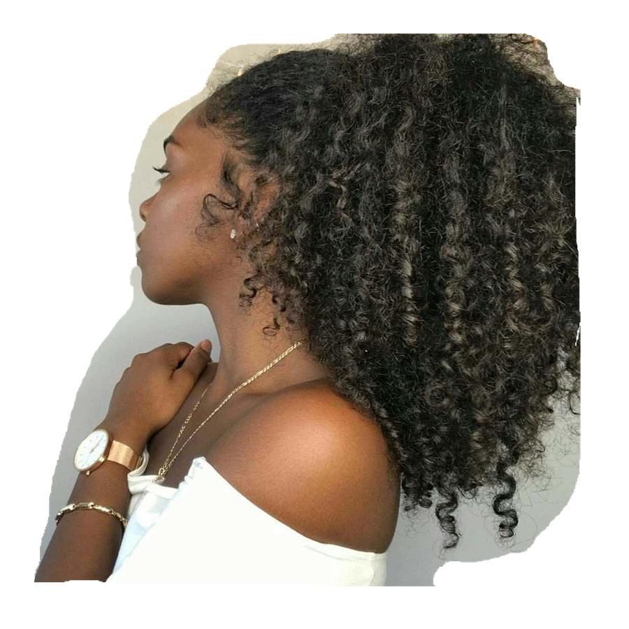 Afro Kinky Curly Human Hair Ponytail For Black Women Brazilian Virgin Hair Drawstring Ponytail Hair Extensions 160g фото