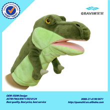 Plush dinosaur hand puppets manufacturers china