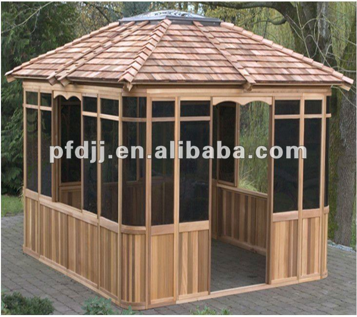 durable pavillon ext rieur en bois jardin gazebo belv d re id de produit 585632722 french. Black Bedroom Furniture Sets. Home Design Ideas