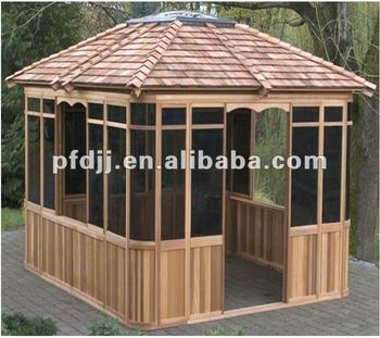 Durable outdoor pavilion wooden garden gazebo buy wooden for Pavilion cost per square foot