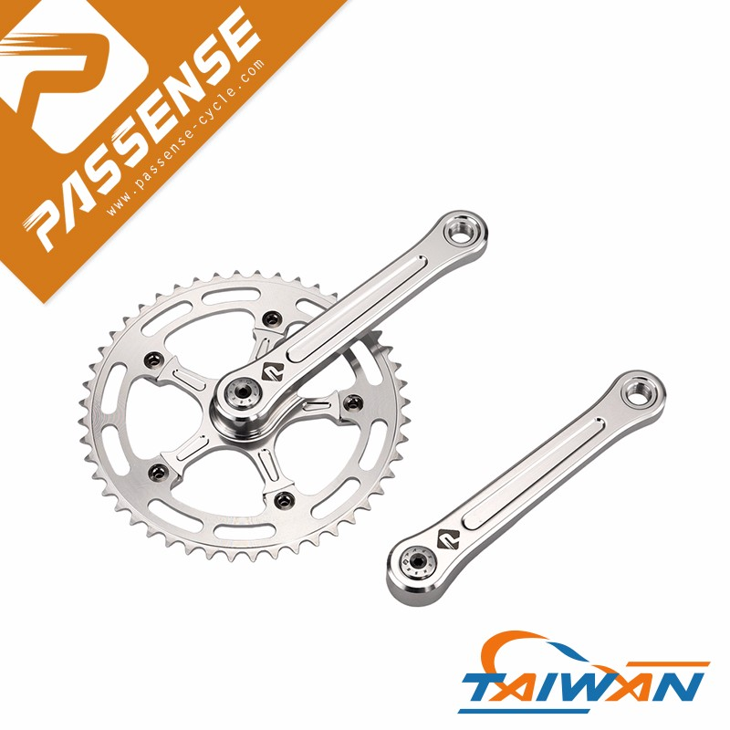 Good quality Passense silver bicycle chainwheel and crank set