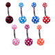 colorful acrylic barbell plastic belly navel ring