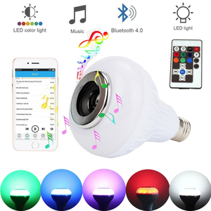 Smart Wireless Bluetooth Speaker Bulb Music led light bulb with Remote Control