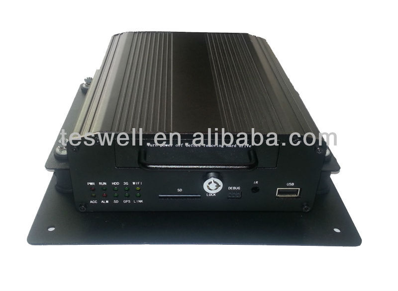 vehicle surveillance (cars, buses, boats) 4 Channel CCTV Mobile DVR with advanced H.264 video compression, full HD1 recording