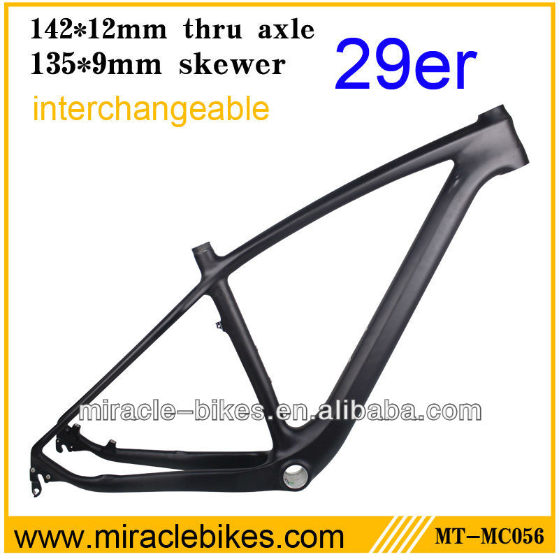 MIRACLE hot selling carbon 29er MTB framest cheap mountain bicycle frames