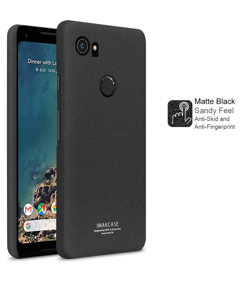 Cowboy Frosted Phone Case For Google Pixel 2 XL Hard PC Matte Case Cover With Ring Holder Screen Protector