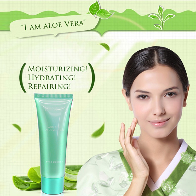 Hydrating Whitening Day Cream Acne Anti Aging Wrinkle Whitening Facial Cream Brighten Skin Care Pure Aloe Vera Gel