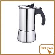 Premium Crystal Glass-Top Stovetop Espresso Moka Pot - 6 cup - Aluminum Coffee Maker with Durable Food-Grade Aluminum Bottom