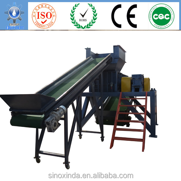 rubber raw materials process used tyre shredder for sale