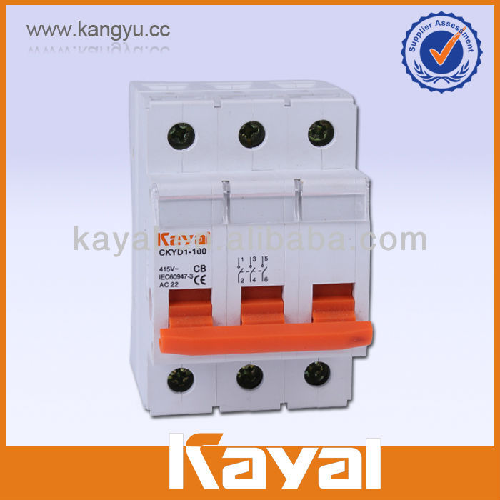 Low voltage isolation switch 4p 100a MCB