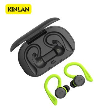 Kinlan 2019 IPX7 waterproof sports stereo wireless bluetooth headset auriculares Bluetooth earphone with charging dot