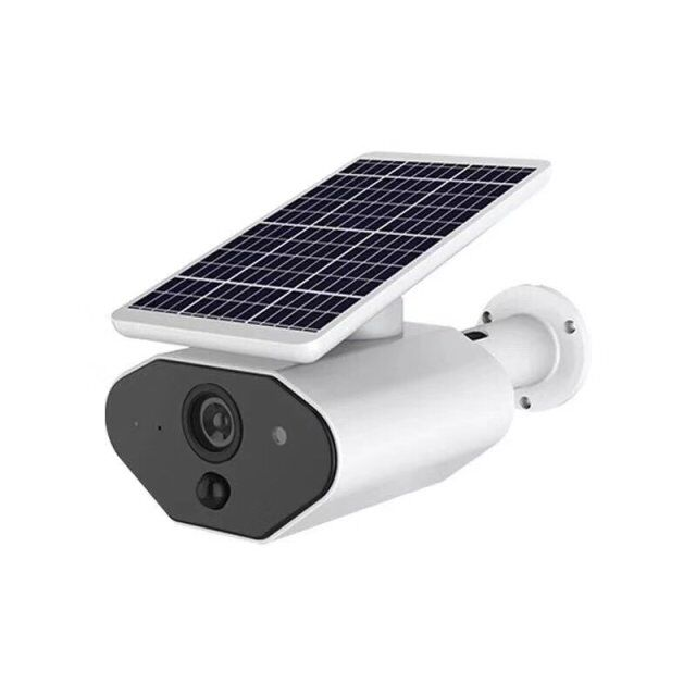Silver Tech Traders Waterproof Solar Power Fake Outdoor Dummy Security Home CCTV Camera with LED Light
