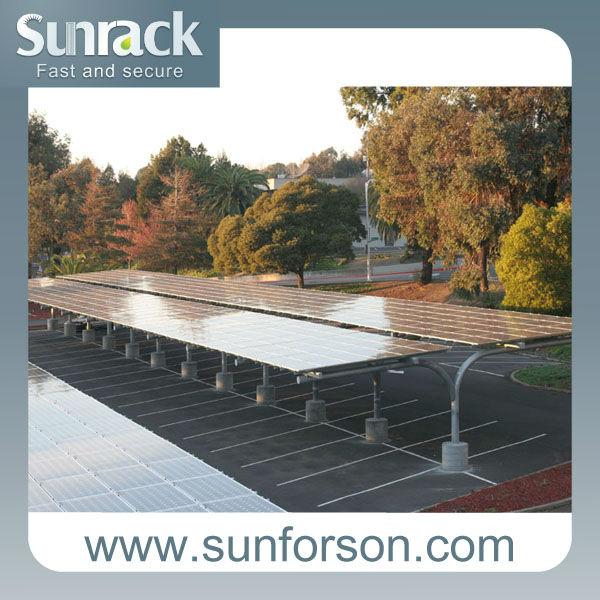 Syst me de stationnement de voiture solaire abri pour 6 for Abri solaire mural