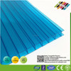 6mm polycarbonate hollow sheet for green house with uv coating frie proof
