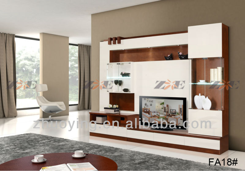 Modern Wall Units Designs In Living Room Fa18   Buy Wall Units Designs In Living  Room,Tv Unit Design Furniture,Mixing Black And White Furniture Product On  ...