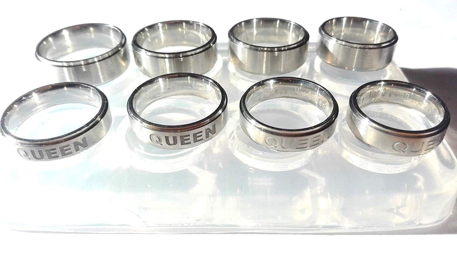 Clear silicone unisex KING-QUEEN rings mold .Free USA shipping! KING SIZE (8)(9)(10.5)(11.75) QUEEN Size(7)(8)(9)(10.5)....(O-32)