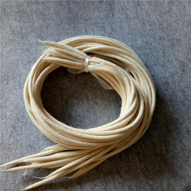 Customized industrial wool felt rope wool felt seals wool felt gasket wool felt tube