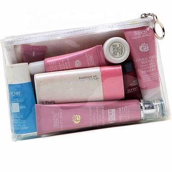 12 OZ Canvas Clear Plastic PVC Modern Cosmetic Packaging Bag