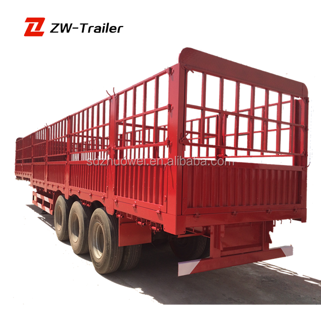 grid position semi trailer transport cargoes, cargo trailer, fence semi trailer