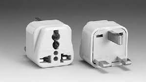 2-PACK: DE-LUXE UNIVERSAL GROUNDED to UK 3-Prong Travel Outlet Plug Adapters. PERFECT FOR LAP-TOPS, CELL PHONE CHARGERS & ANY 220/110 VOLT OR UNIVERSAL AUTO VOLTAGE DEVICES or APPLIANCES.