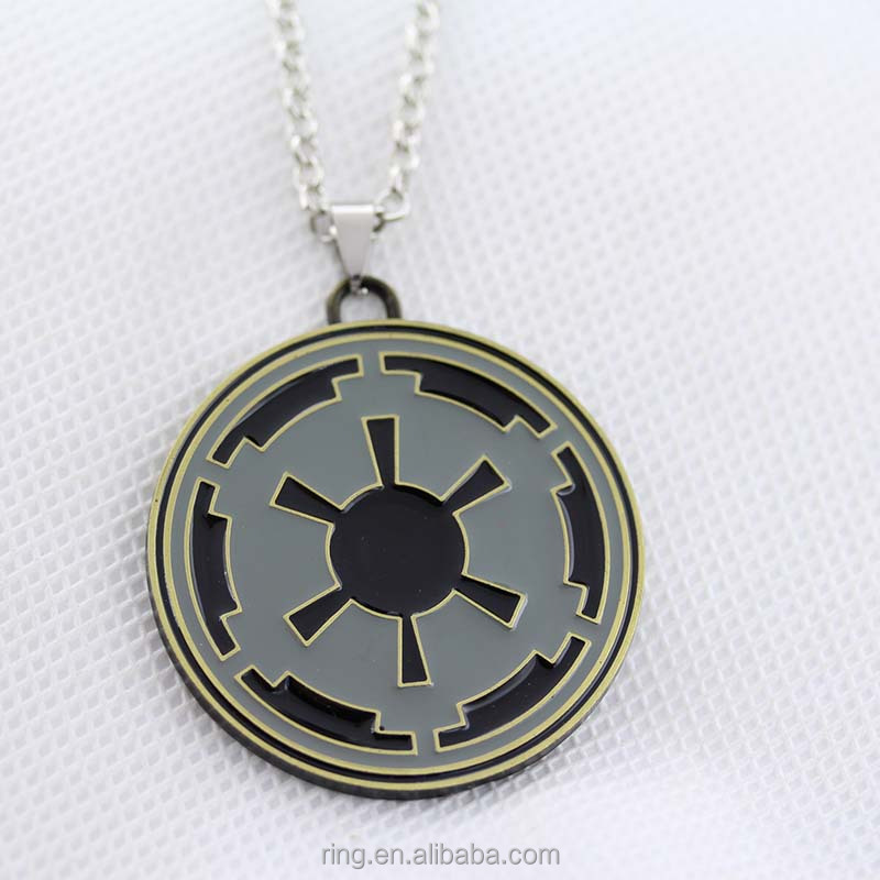Hot Wholesale Necklace Alloy Metal Movie Statement Necklace KN-21