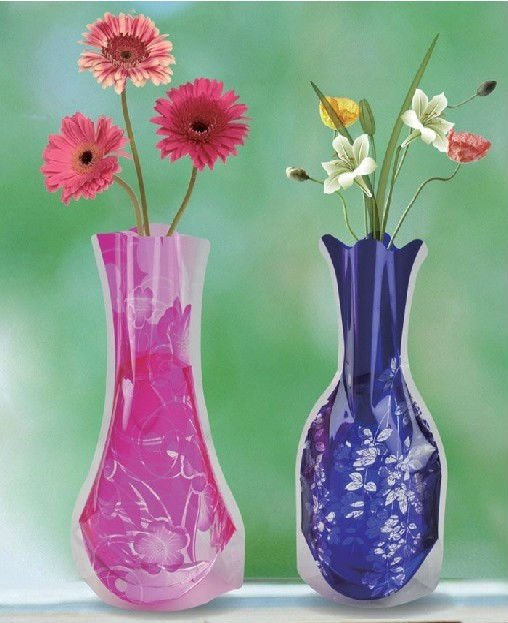 self-standing flower plastic vase collapsible flower vase & Self-standing Flower Plastic Vase Collapsible Flower Vase - Buy ...