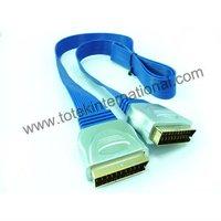 modular scart cable-blue