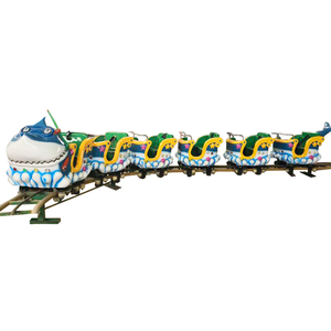 Chinese manufacturer mini fun theme park sliding dragon train amusement track rides roller coaster