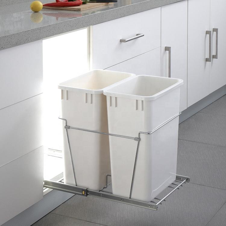 Aksesori Kabinet Dapur Warna Putih Keranjang Penyimpanan Penutup Lembut Buy Dapur Bin Sampah Sampah Dapur Tempat Sampah Product On Alibaba Com