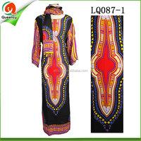 fabric for lady dress high quality african dashiki women fashion ankara dress clothing