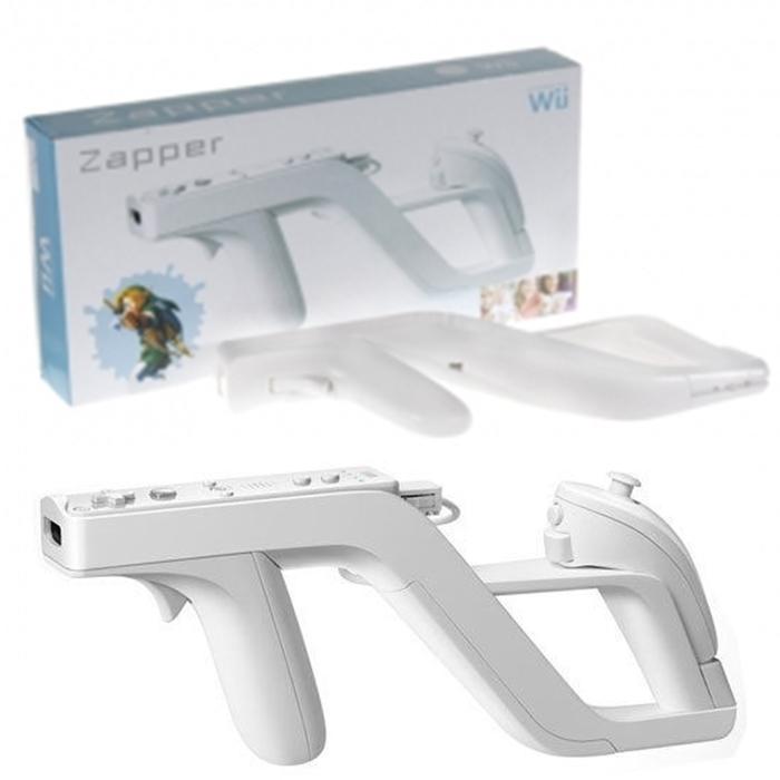 Бесплатная доставка новый заппер пистолет для контроллера Wii Remote игры белый Jecksion # F2002