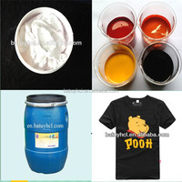 world wide high quality white flexible silk screen textile printing ink for rubber