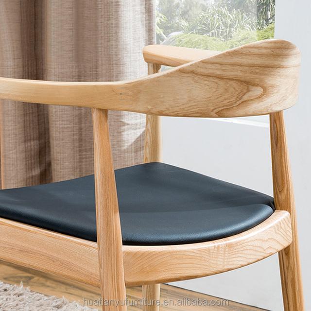 Modern Design Hotel Luxe Houten Frame Ring Terug Eetkamerstoel Met Lederen Zetel Buy Houten Eetkamerstoel,Eetkamerstoel,Ring Terug Stoel Product on