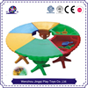 2017 Kids square cheap plastic play table with storage for sales