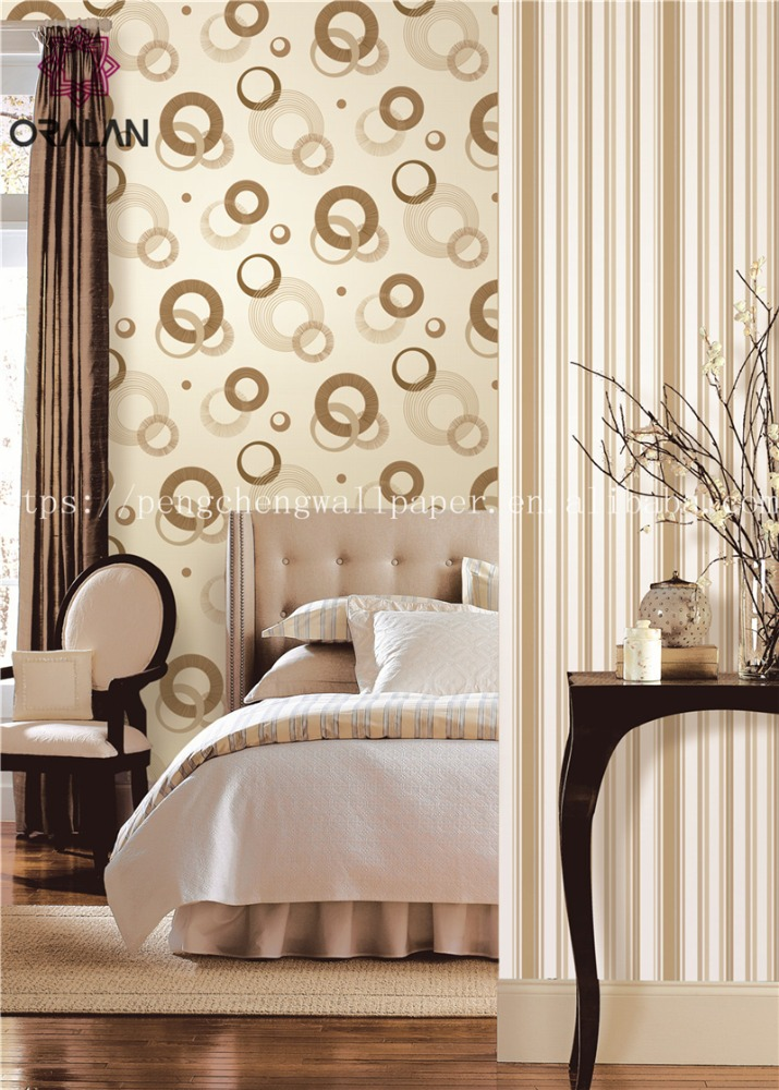 Circle pattern vinyl modern wallpaper designs for living room