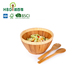 new design bamboo serving bowls eco-friendly bamboo wood party snack or mixing salad bowls