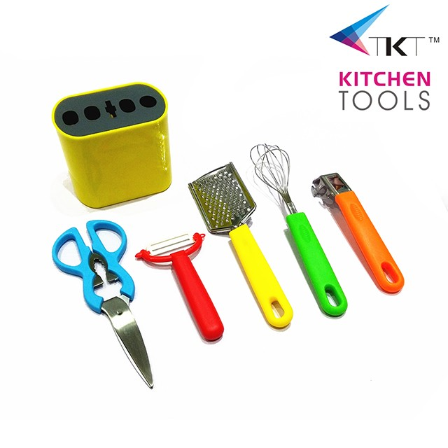 5pc kitchen tools with stand kitchen utensils