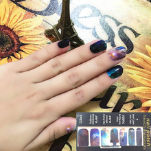 Marvelous Space Universe Nail Arts Nail Sticker Gel Polish French Manicure Patch Full Tape Waterproof Nail Decal Sticker