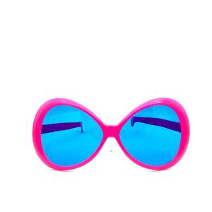 Hot sales quality hot pink blue lenses crazy custom party decoration beach sun glasses