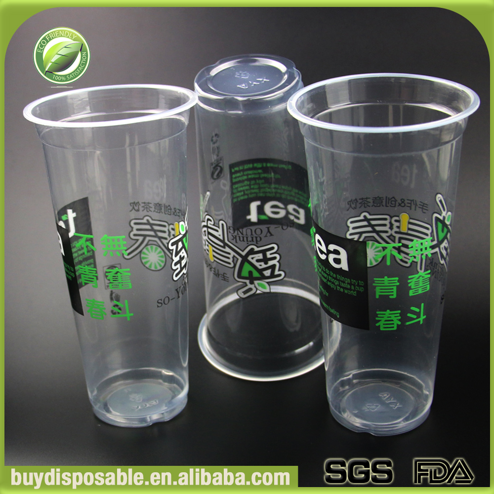 700ml 90mm disposable plastic cups with lids
