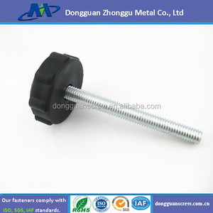costom plastic head screw/rubber head machine screw