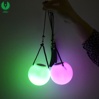 Professional Belly Dance Level Hand Props LED Poi Thrown Balls