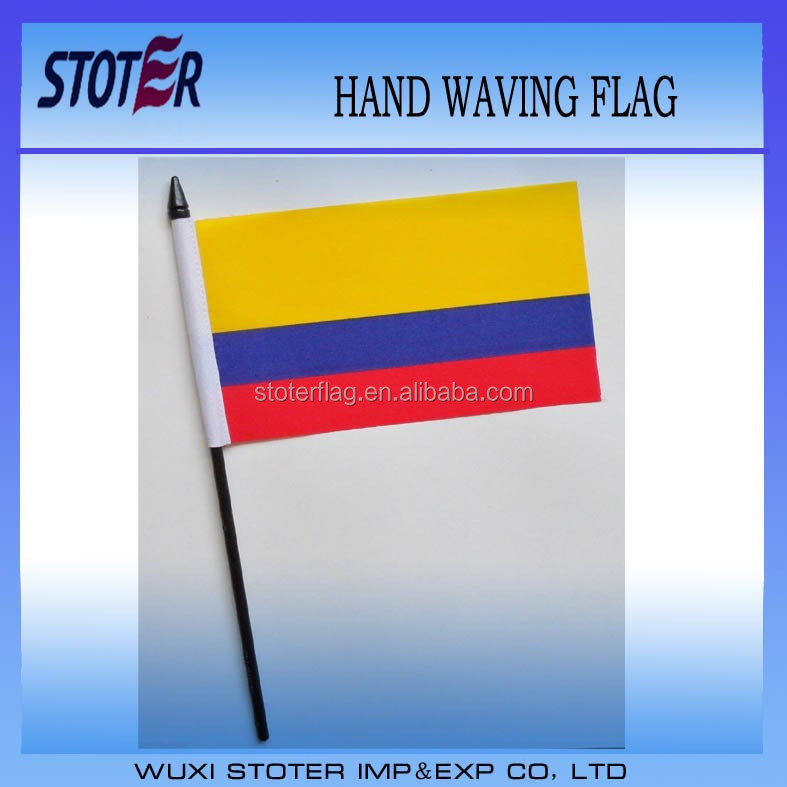 Colombia Small Hand Waving Flag