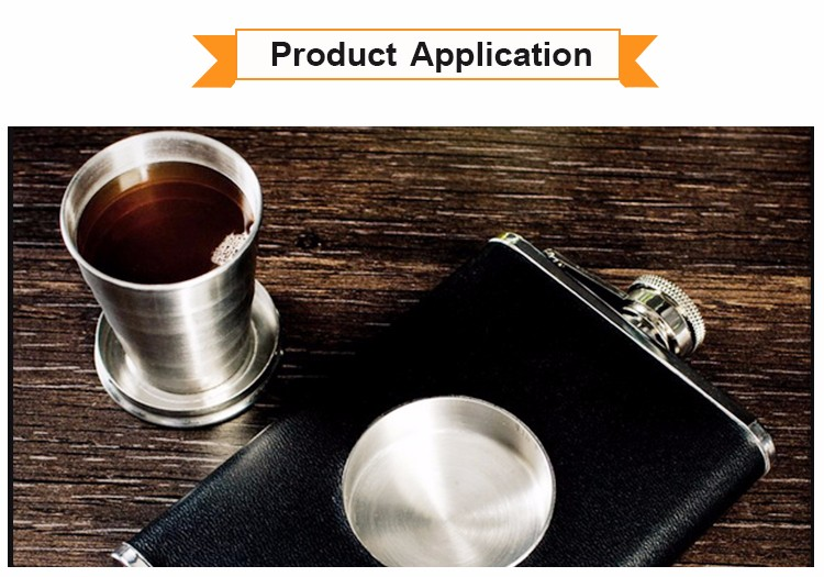 High Quality Stainless Steel Collapsible Shot Glass Cup