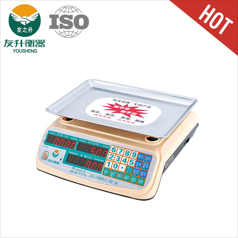 Pink Color 30kg Bench Type Electronic Scale With New ABS Materilas CE Certificate,Big Font LED Display