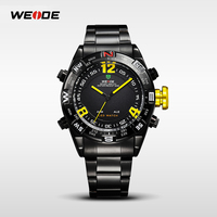 WEIDE Famous Tag Mens Watches Men Top Brand Luxury Quartz-Watch Digital Stainless Steel Casual Day Date Relogio Masculino