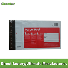 custom printed poly mailer for Australia posting courier bags with shipping labels courier satchel