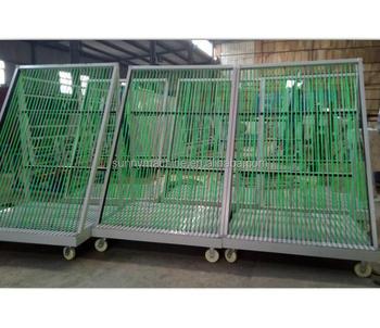 Charmant Harp Rack Glass Trolley Glass Storage Rack