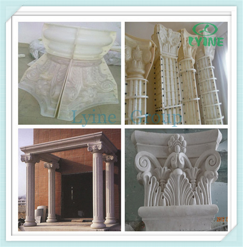 Cement Pillar Molds : Decorative stair railing baluster spindles wood