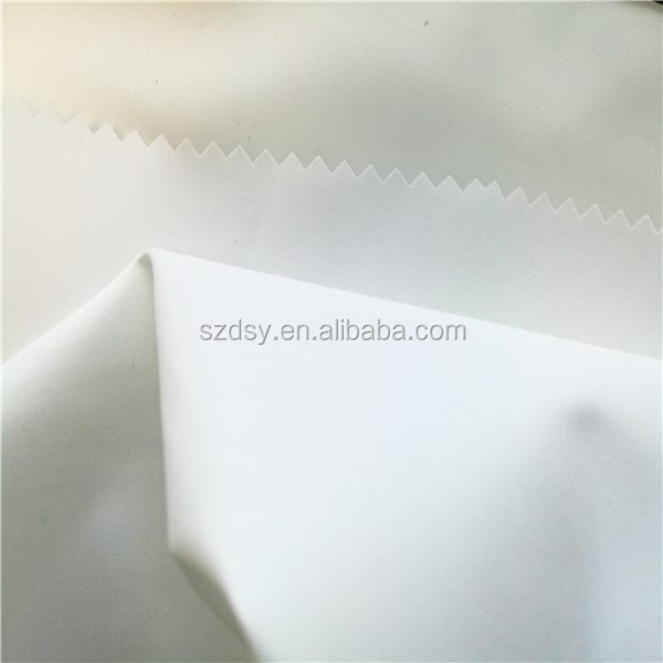 100% polyester pongee with milky coated fabric from suzhou